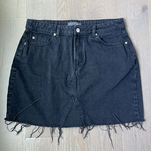 Primark Black Mini Jean Skirt